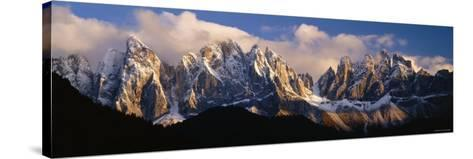 Snowcapped Mountain Peaks, Dolomites, Italy--Stretched Canvas Print