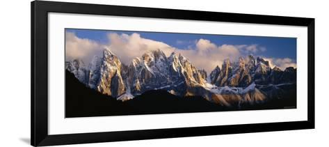 Snowcapped Mountain Peaks, Dolomites, Italy--Framed Art Print