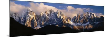 Snowcapped Mountain Peaks, Dolomites, Italy--Mounted Photographic Print