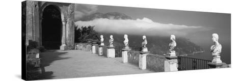 Marble Busts Along a Walkway, Ravello, Amalfi Coast, Salerno, Campania, Italy--Stretched Canvas Print