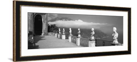 Marble Busts Along a Walkway, Ravello, Amalfi Coast, Salerno, Campania, Italy--Framed Art Print