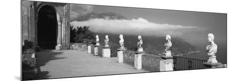 Marble Busts Along a Walkway, Ravello, Amalfi Coast, Salerno, Campania, Italy--Mounted Photographic Print