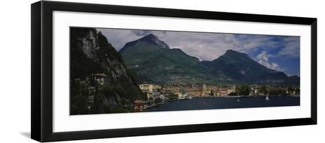 Town at the Waterfront, Riva Del Garda, Italy--Framed Art Print