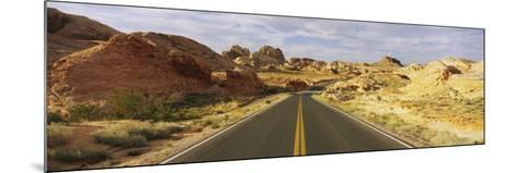 Empty Road Running Through a Landscape, Valley of Fire State Park, Nevada, USA--Mounted Photographic Print