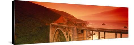 Bixby Bridge, Big Sur, California, USA--Stretched Canvas Print