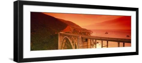 Bixby Bridge, Big Sur, California, USA--Framed Art Print