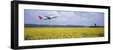 Airplane Taking Off, Zurich Airport, Kloten, Zurich, Switzerland--Framed Art Print
