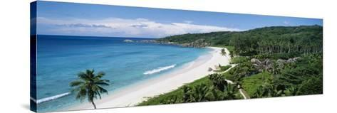 Grand Anse Beach, La Digue Island, Seychelles--Stretched Canvas Print