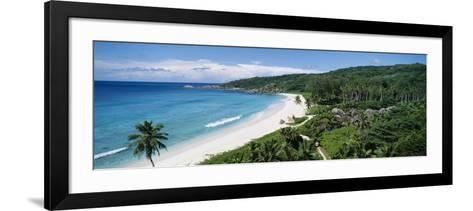 Grand Anse Beach, La Digue Island, Seychelles--Framed Art Print