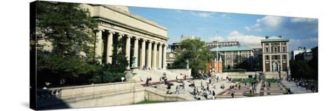 People in Front of a Library, Library of Columbia University, New York City, New York, USA--Stretched Canvas Print