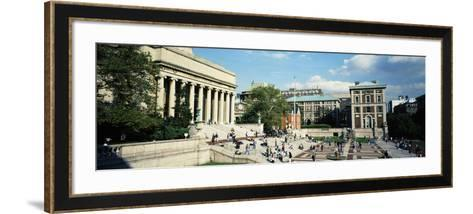 People in Front of a Library, Library of Columbia University, New York City, New York, USA--Framed Art Print