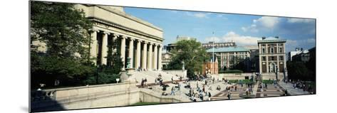 People in Front of a Library, Library of Columbia University, New York City, New York, USA--Mounted Photographic Print