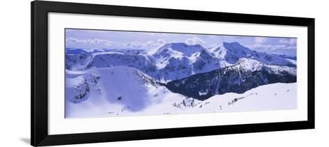 Snowcapped Mountain Range, Raft Mountain, Wells Gray Provincial Park, British Columbia, Canada--Framed Art Print