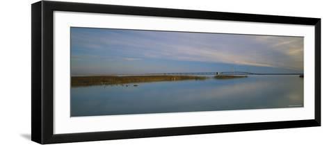Mackinac Bridge, Mackinaw City, Michigan, USA--Framed Art Print