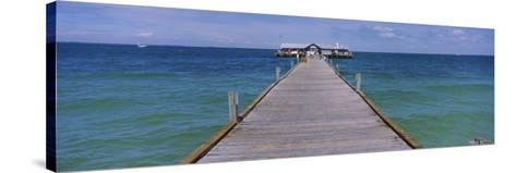 Pier in the Sea, Anna Maria City Pier, Anna Maria, Anna Maria Island, Manatee, Florida, USA--Stretched Canvas Print