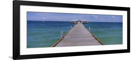 Pier in the Sea, Anna Maria City Pier, Anna Maria, Anna Maria Island, Manatee, Florida, USA--Framed Art Print
