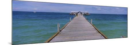 Pier in the Sea, Anna Maria City Pier, Anna Maria, Anna Maria Island, Manatee, Florida, USA--Mounted Photographic Print