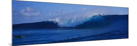 Waves Breaking on the Coast, Tahiti, French Polynesia--Mounted Photographic Print