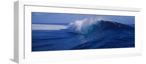 Waves Breaking on the Coast, Tahiti, French Polynesia--Framed Art Print
