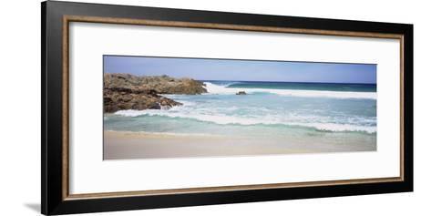 Waves on the Beach, Australia--Framed Art Print