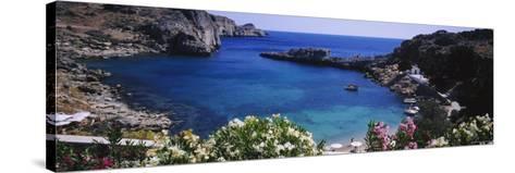 Coastline of Rhodes, Greece--Stretched Canvas Print