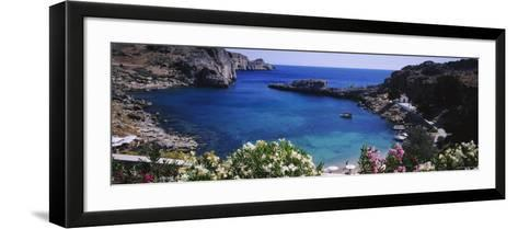Coastline of Rhodes, Greece--Framed Art Print