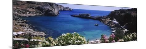 Coastline of Rhodes, Greece--Mounted Photographic Print