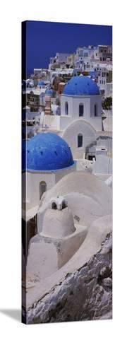 Oia Church, Santorini, Greece--Stretched Canvas Print