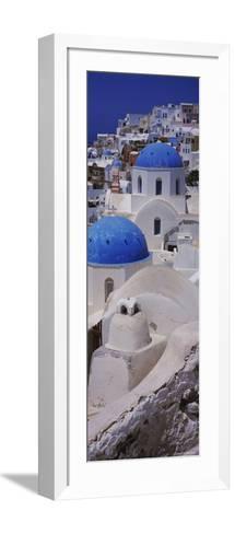 Oia Church, Santorini, Greece--Framed Art Print