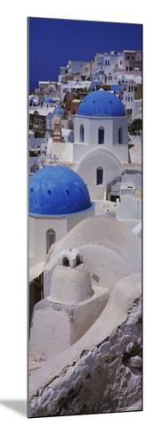 Oia Church, Santorini, Greece--Mounted Photographic Print