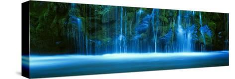 Mossbrae Falls, Sacramento River, Shasta Cascade, Dunsmuir, California, USA--Stretched Canvas Print