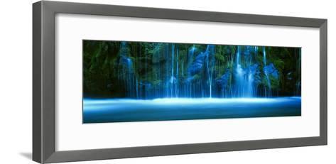 Mossbrae Falls, Sacramento River, Shasta Cascade, Dunsmuir, California, USA--Framed Art Print