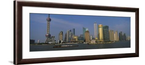 Buildings at the Waterfront, Oriental Pearl Tower, Huangpu River, Pudong, Shanghai, China--Framed Art Print