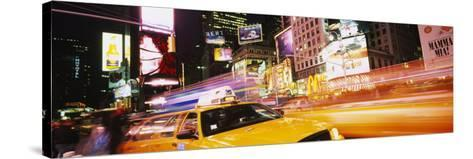 Yellow Taxi on the Road, Times Square, Manhattan, New York City, New York, USA--Stretched Canvas Print
