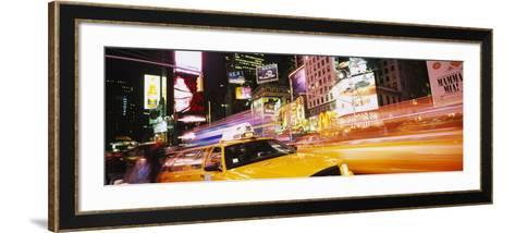 Yellow Taxi on the Road, Times Square, Manhattan, New York City, New York, USA--Framed Art Print