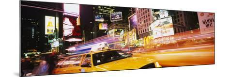 Yellow Taxi on the Road, Times Square, Manhattan, New York City, New York, USA--Mounted Photographic Print