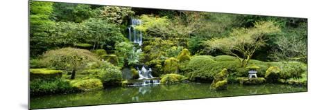 Waterfall in a Garden, Japanese Garden, Washington Park, Portland, Oregon, USA--Mounted Photographic Print