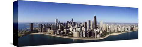Aerial View of Lake Michigan, Lake Shore Drive, Chicago, Illinois, USA--Stretched Canvas Print