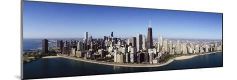 Aerial View of Lake Michigan, Lake Shore Drive, Chicago, Illinois, USA--Mounted Photographic Print