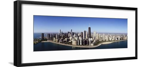 Aerial View of Lake Michigan, Lake Shore Drive, Chicago, Illinois, USA--Framed Art Print