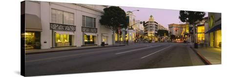 Buildings Along a Road, Rodeo Drive, Beverly Hills, California, USA--Stretched Canvas Print