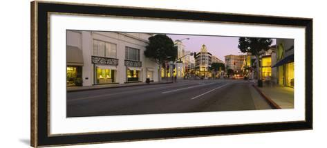 Buildings Along a Road, Rodeo Drive, Beverly Hills, California, USA--Framed Art Print