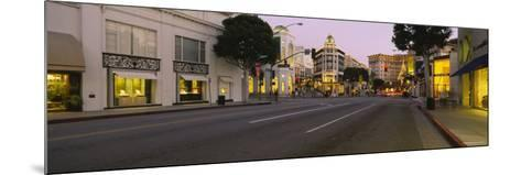 Buildings Along a Road, Rodeo Drive, Beverly Hills, California, USA--Mounted Photographic Print