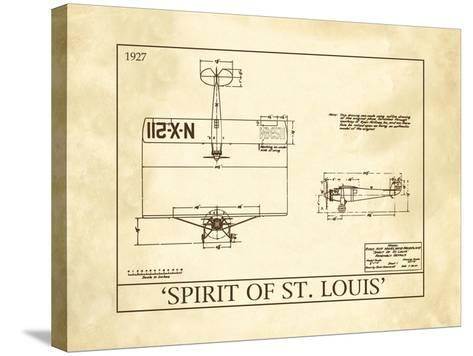 Spirit of St. Louis--Stretched Canvas Print