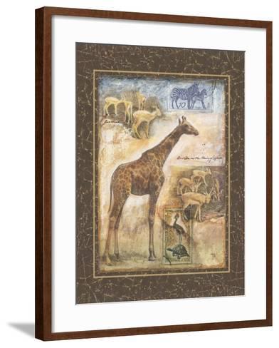 On Safari II-Tina Chaden-Framed Art Print