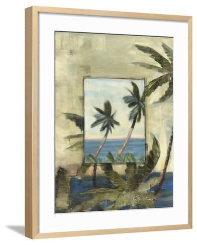 Breezy Palms, no. 1-Jeff Surret-Framed Art Print