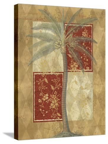 Harlequin Coconut Palm--Stretched Canvas Print
