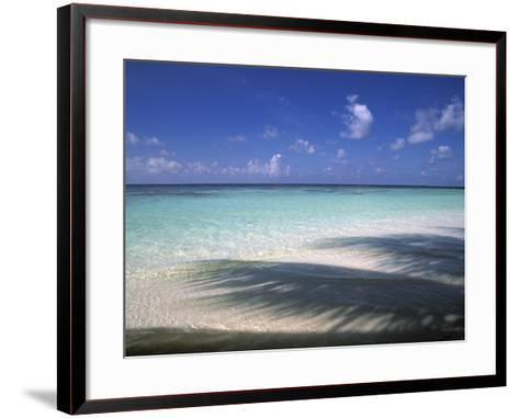 Tropical Beach at Maldives, Indian Ocean-Jon Arnold-Framed Art Print