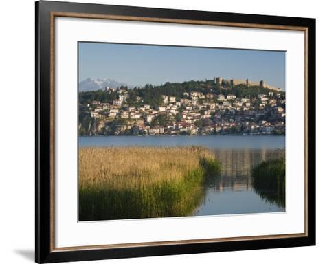 Morning View of Old Town and Car Samoil's Castle, Ohrid, Macedonia-Walter Bibikow-Framed Art Print
