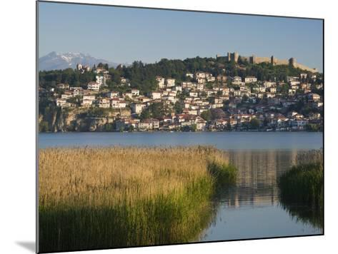 Morning View of Old Town and Car Samoil's Castle, Ohrid, Macedonia-Walter Bibikow-Mounted Photographic Print